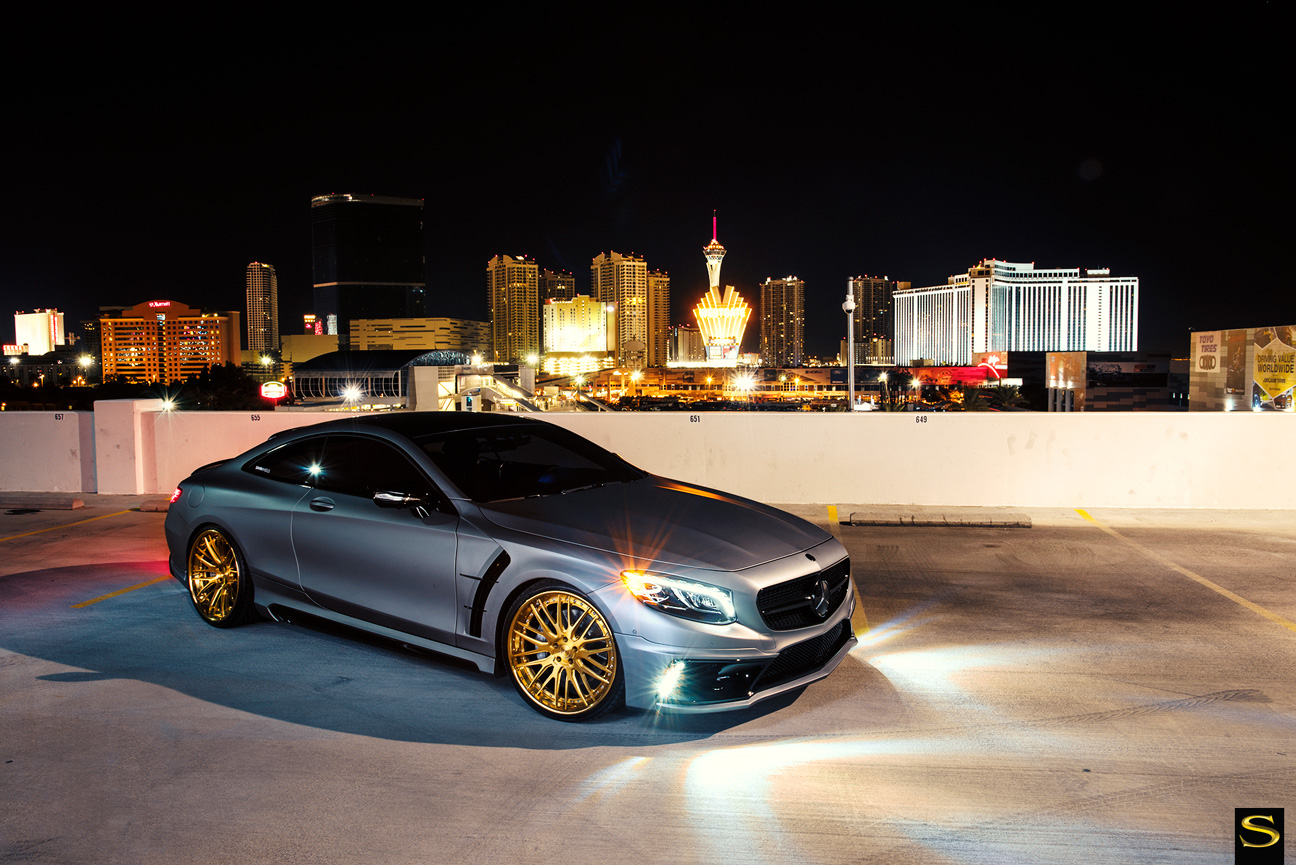 Mercedes S550 | Black di Forza | BM13L | Brushed Gold | by Savini Wheels Switzerland