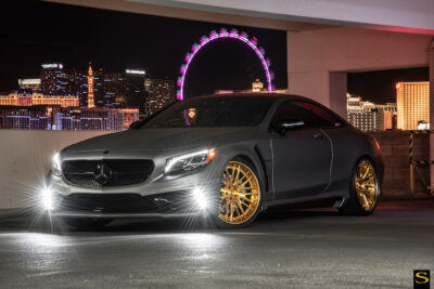 Mercedes S550 | Black di Forza | BM13L | Brushed Gold | by Savini Wheels Switzerland-2