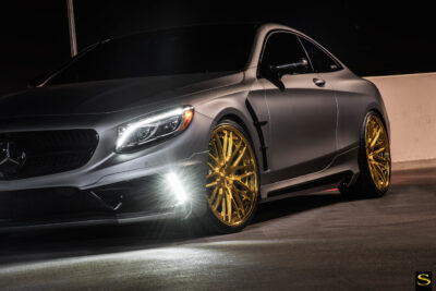 Mercedes S550 | Black di Forza | BM13L | Brushed Gold | by Savini Wheels Switzerland-1