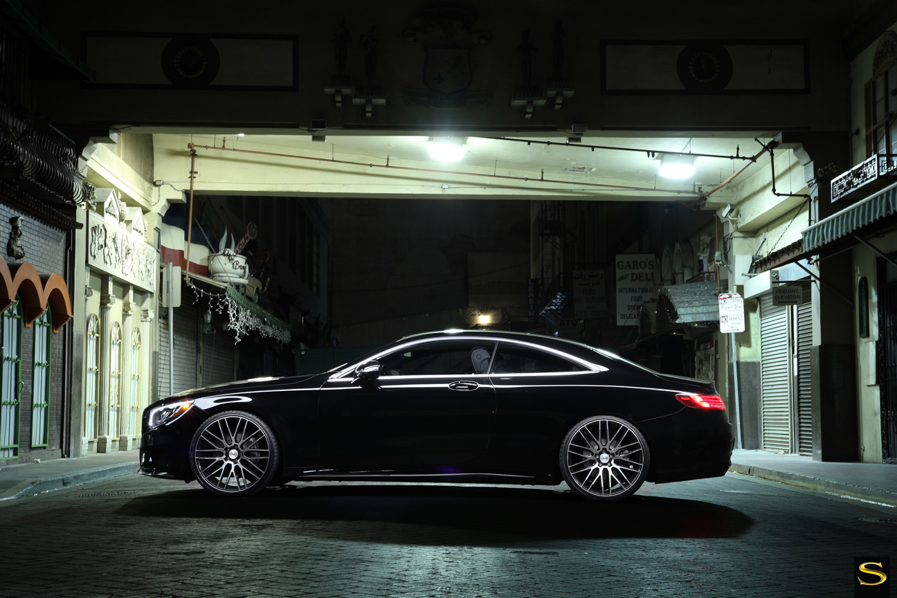 Mercedes S550 | Black di Forza | BM13 | Black Machined | by Savini Wheels Switzerland