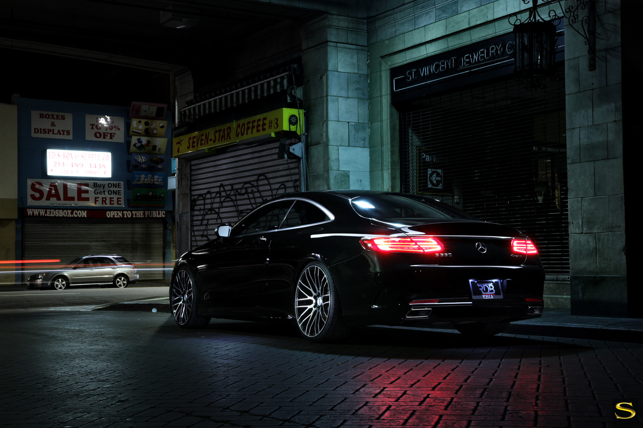 Mercedes S550 | Black di Forza | BM13 | Black Machined | by Savini Wheels Switzerland-5