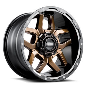 GD-7 | gloss bronze milled with gloss black lip | Grid Offroad Switzerland