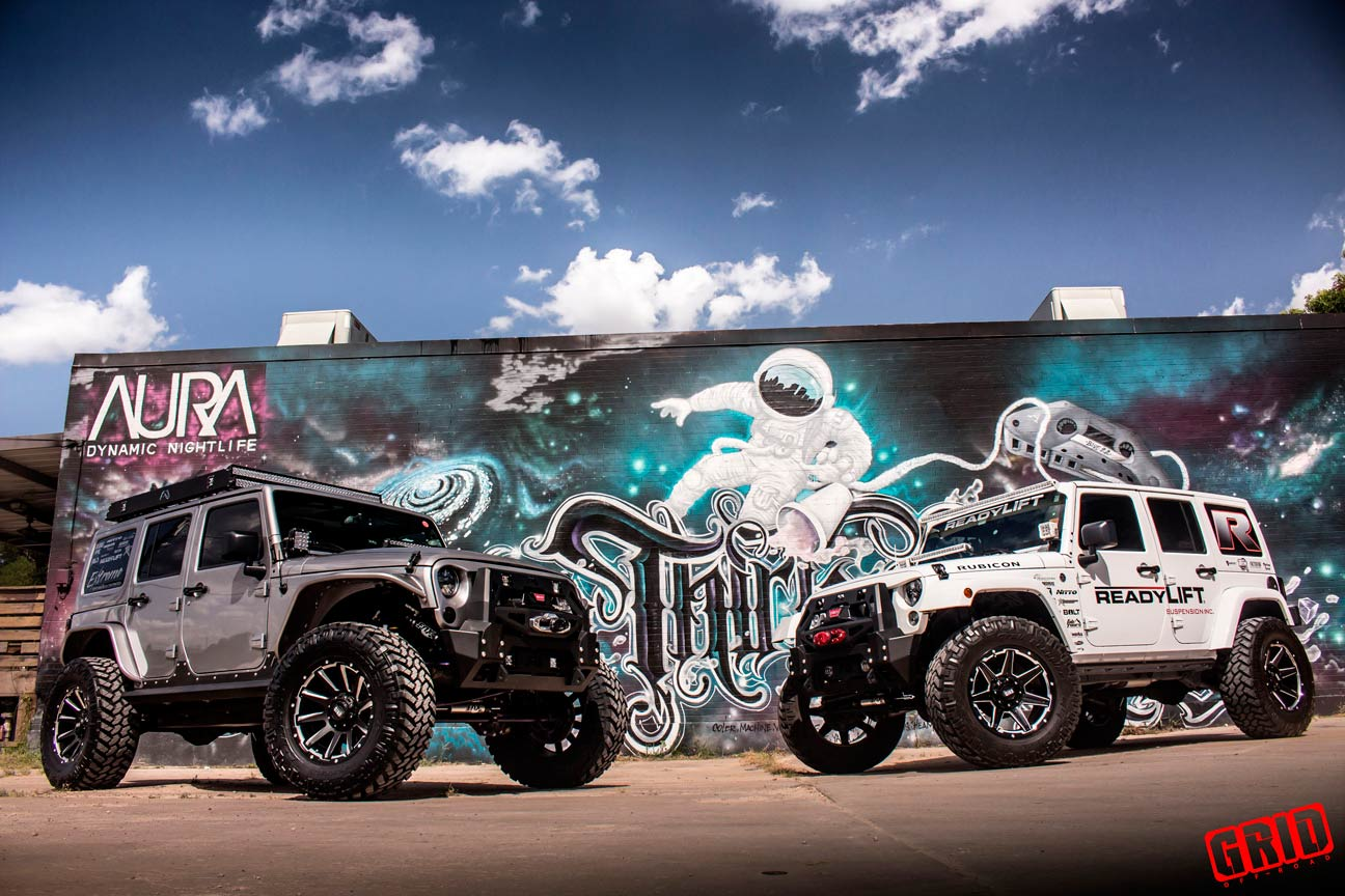 Grid-Offroad-gd6-gloss-black-milled-jeep-jk-wrangler-readylift-white-with-GD5-matte-black-milled-3