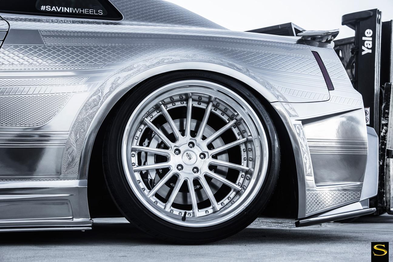 Mercedes cls550 | Black di Forza | BM9L | Kuhl Racing Nissan GTR | |by Savini Wheels Switzerland-2